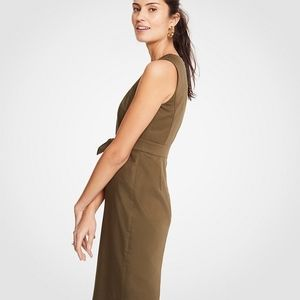 Ann Taylor NWT Cotton Sateen Tie-front Dress